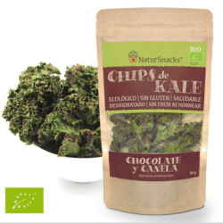 Kale dehydrated with chocolate-cinnamon