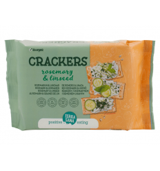 Crackers con romero y semillas