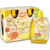 cool fruits de manzana platano y acerola