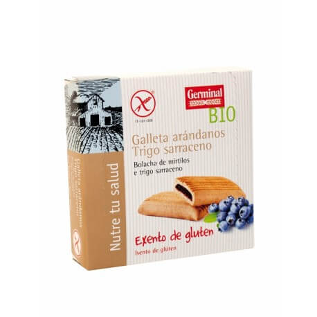 Galletas sarraceno con arándanos